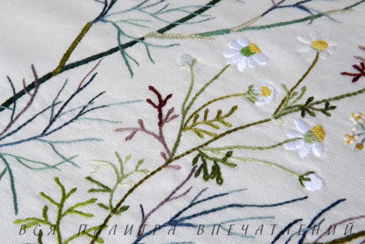 Ромашки и фенхель. Японская вышивка, дизайн Sadako Totsuka. Блог Вся палитра впечатлений