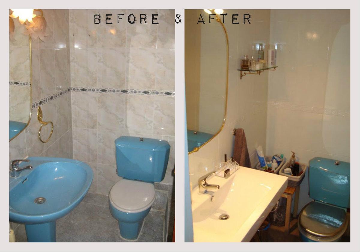 Kp decor studio ayd cuarto de ba o baa bathroom - Pintura para azulejos del bano ...