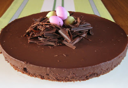 chokladtårta med tryffel