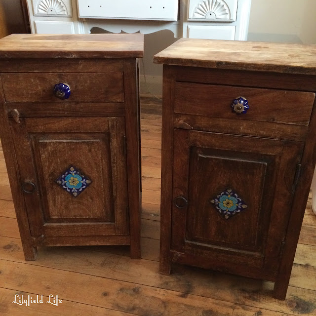 Bedside tables before - Spanish style
