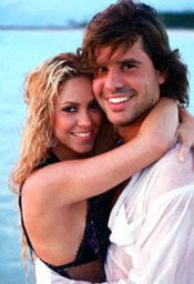 Shakira with his husband boyfriend