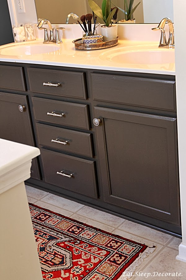 Eat sleep decorate master bathroom updates paint for Bathroom paint colors with dark cabinets