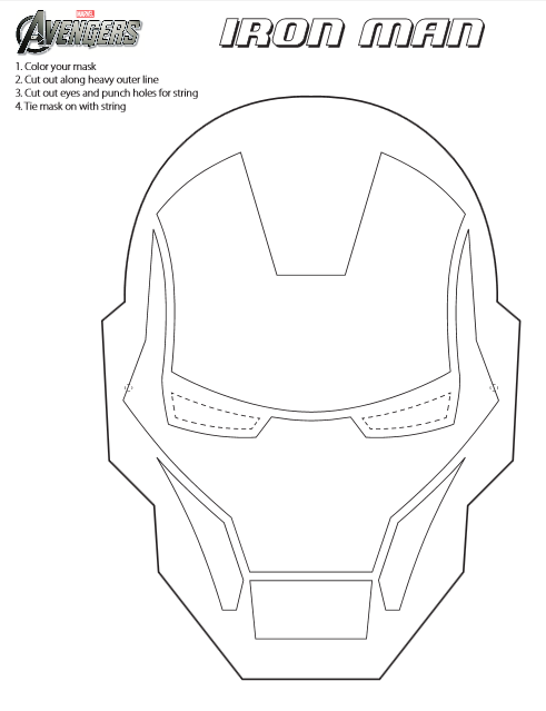 Free coloring pages of iron man mask