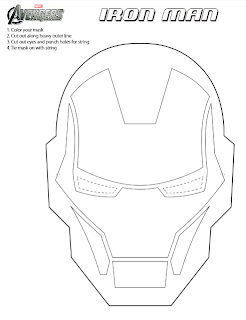 Printable Iron Man Mask To Color IronMan3Event