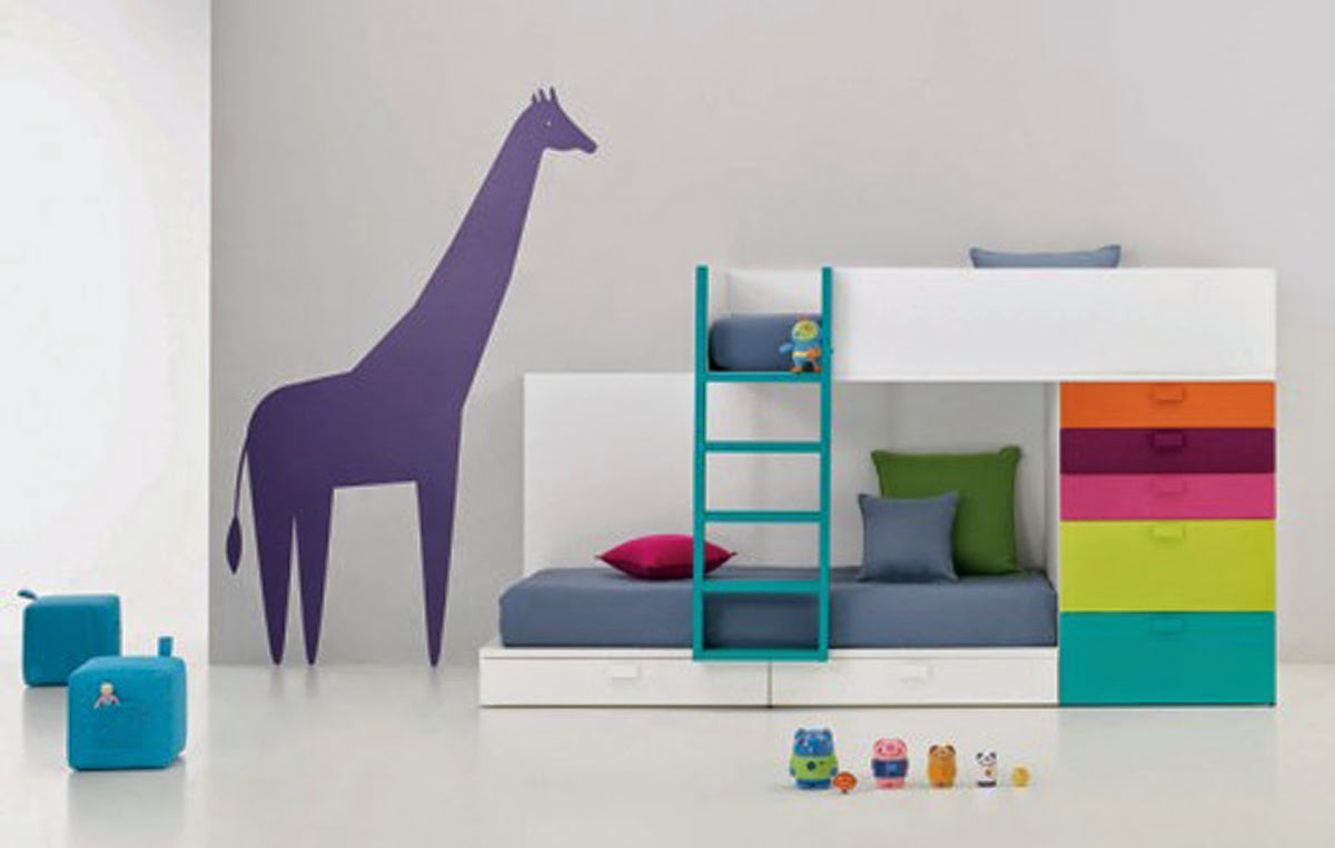 charming kid bedroom design. Minimalist Kids Room Design Ideas With Charming Bunk Bed In White Wood Kid Bedroom