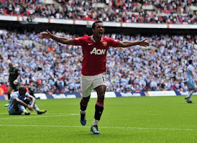 Luis Nani Manchester United v Manchester City Community Shield
