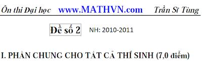 De on thi Dai hoc, Thi thu DH, Luyen thi DH 2011