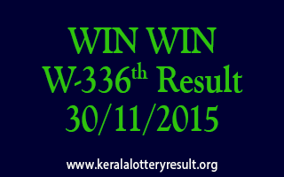 WIN WIN W 336 Lottery Result 30-11-2015