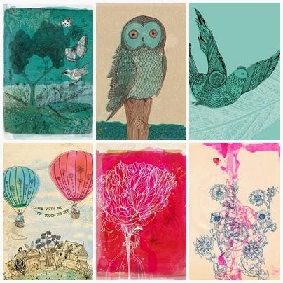 Kolorowe ilustracje na ścianę