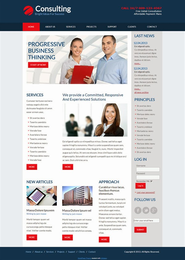Consulting - Free Wordpress Theme