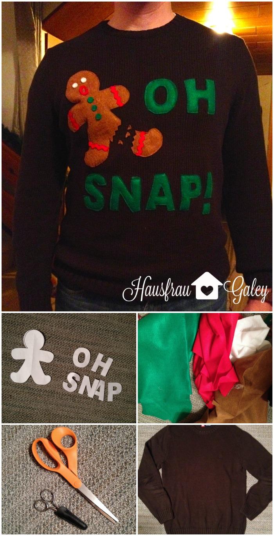 DIY Ugly Christmas Sweater and skirt