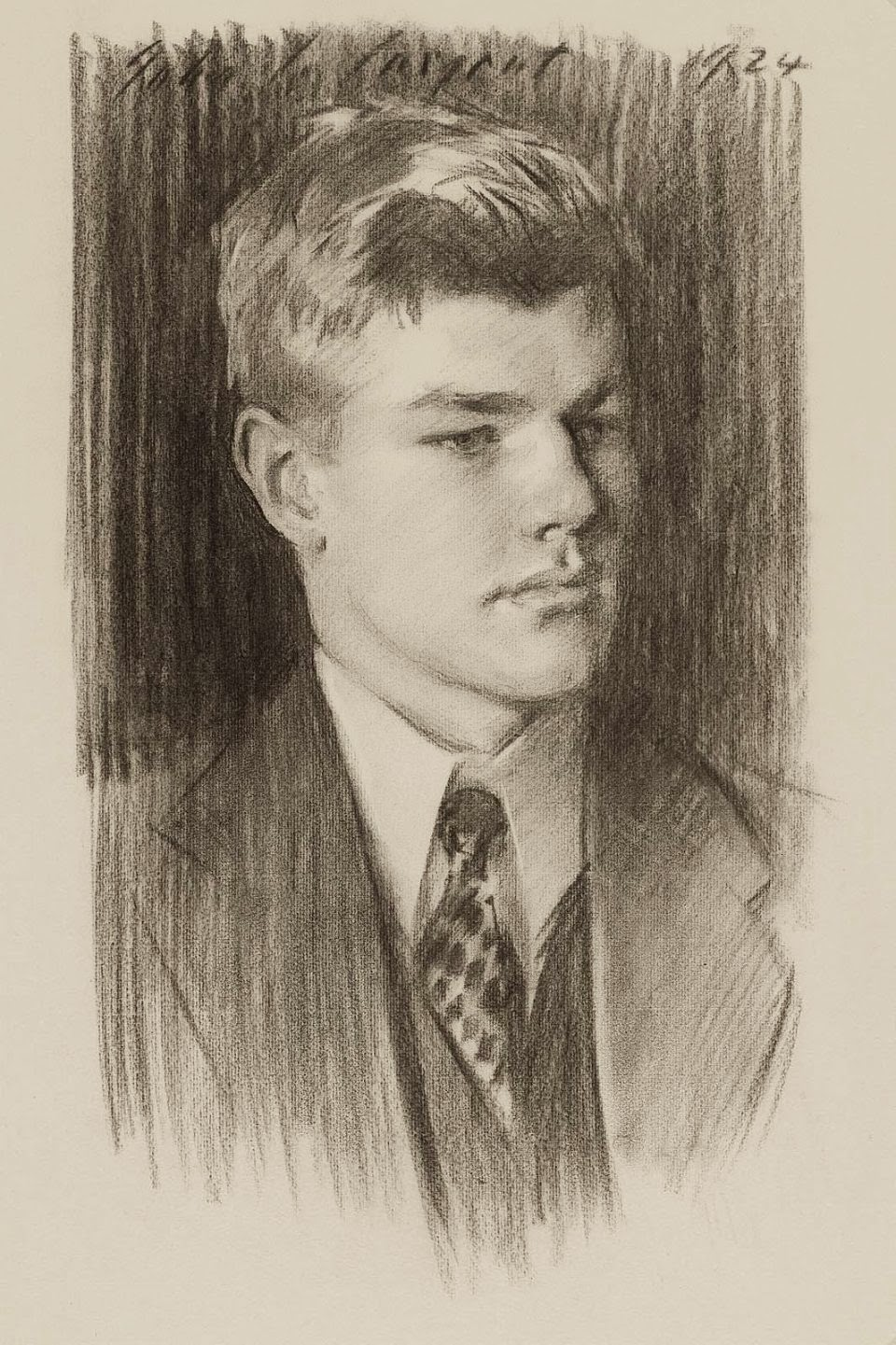 art artists john singer sargent part  1924 harold irving pratt jr at age 20 charcoal on cream paper 60 x 45 cm museum of fine arts boston ma