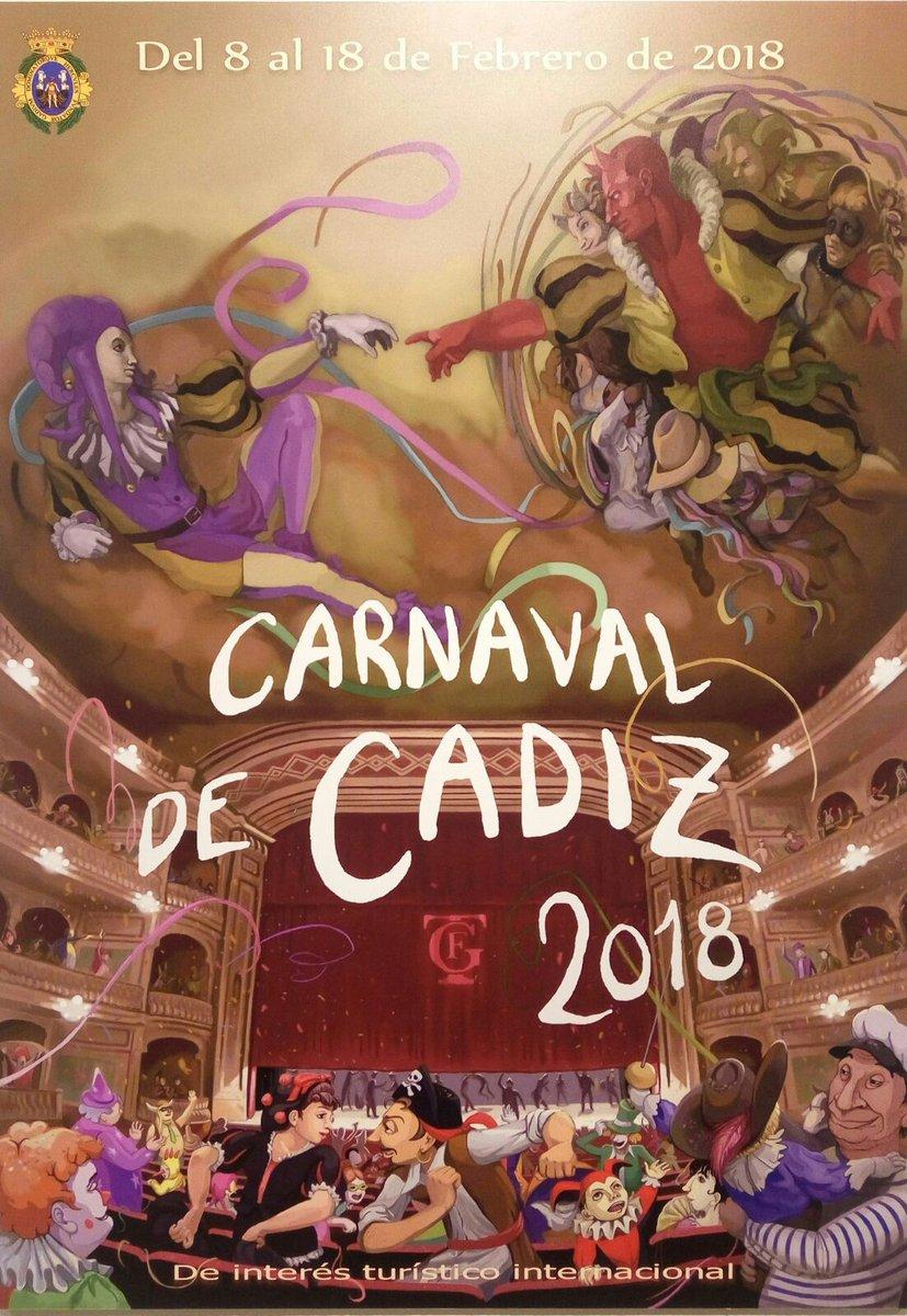 Cartel Carnaval de Cádiz 2018