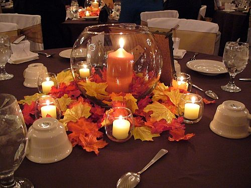 Fall wedding decoration ideas for Cheap decorating ideas for wedding reception tables