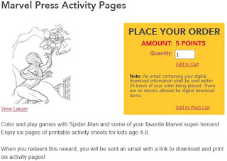 Marvel Press Activity Pages offer from Kellogg's