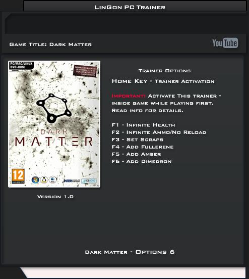 Dark Matter v1.0 Trainer +6 [LinGon]