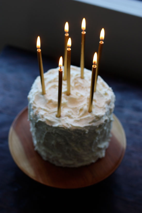 Patti Friday: Tall Gold Birthday Candles