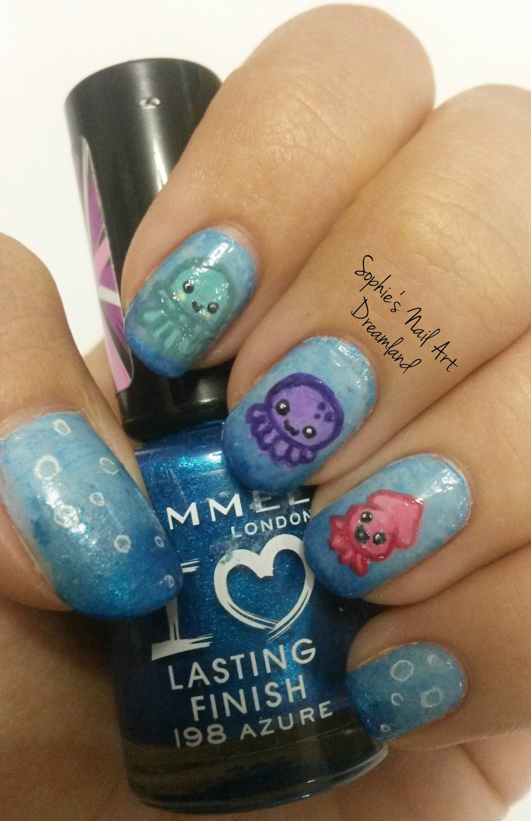 Nail Art Marathon 2015 - 15. Dolphins,whales or favorite water ...