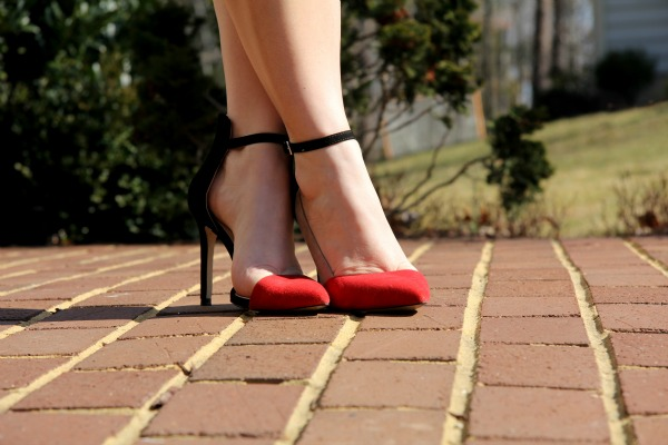 Red and Black Pumps from Zara