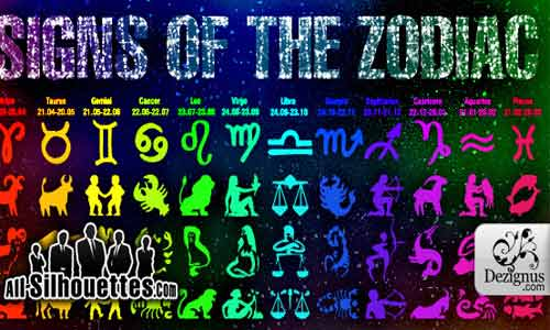 Zodiac signs Shapes Photoshop