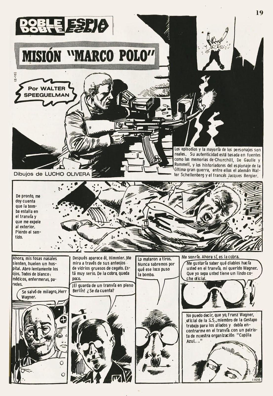 Historietas de la revista Dartagnan para descargar: Doble Espía ...
