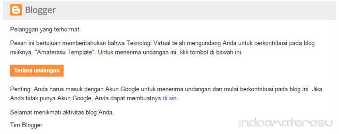 Terima undangan invit blogger