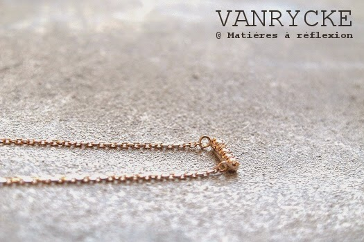 Collier Vanrycke diamant et or rose Mini-medellin