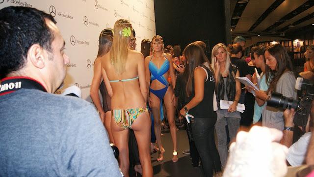 models behind the scenes fashion week