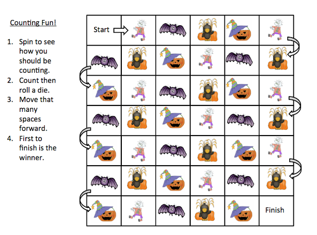 Grade ONEderful: Halloween Counting Game for Grade 1