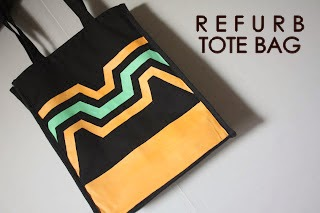 DIY, REFURBISHED, CANVAS, TOTE