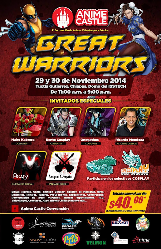 ANIME CASTLE GREAT WARRIORS 2014