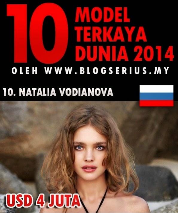CARTA TOP 10 MODEL WANITA TERKAYA DUNIA 2014