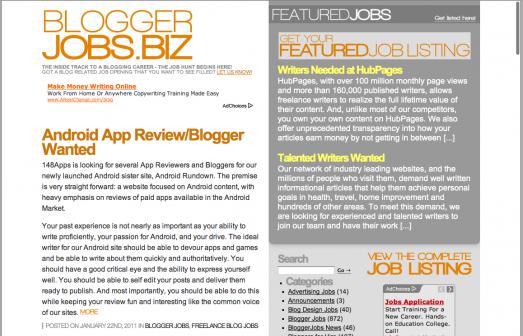 Blogger Jobs