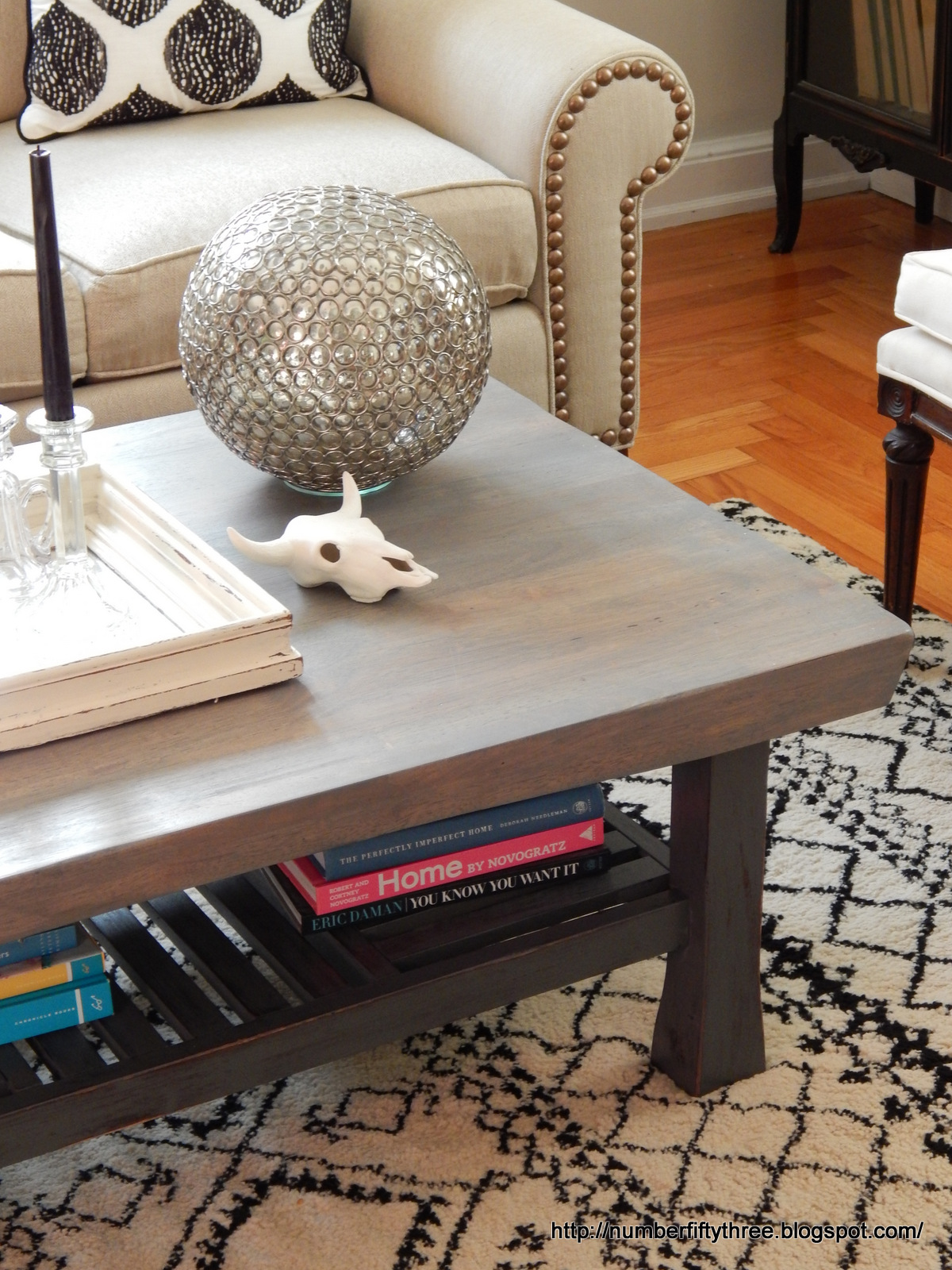 Number Fifty Three Weathered Gray Coffee Table