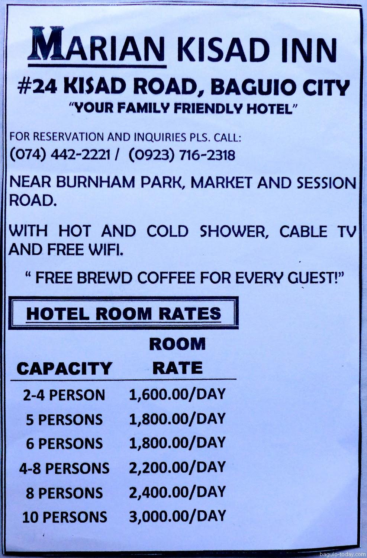 Marian Kisad Inn Hotel December 2017