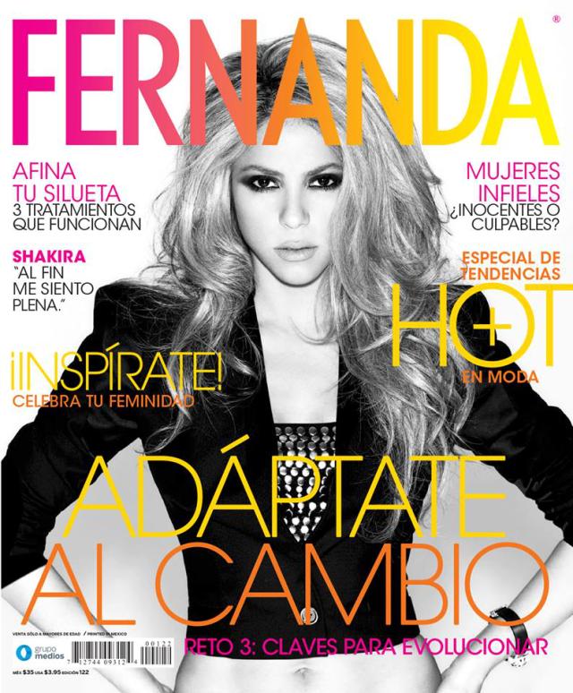 Shakira en la revista Fernanda marzo 2014