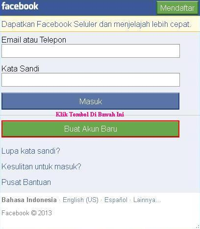 Cara Mudah Daftar Facebook via Opera Mini HP | Download Tips Trik ...