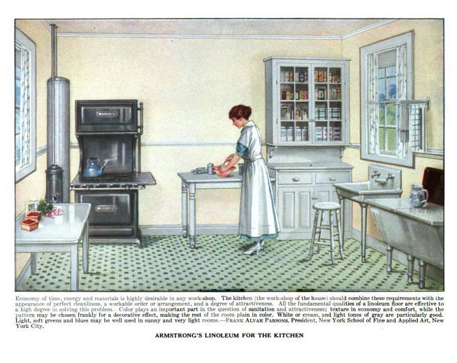 The country farm home early farm kitchens for Interior design styles 20th century