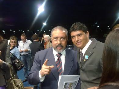 Em Brasília com o Senador Paulo Paim