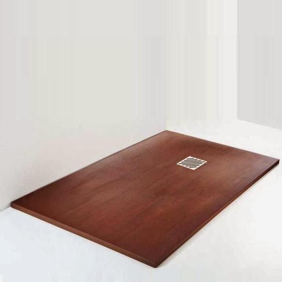 Platos de ducha decorativos for Ducha madera