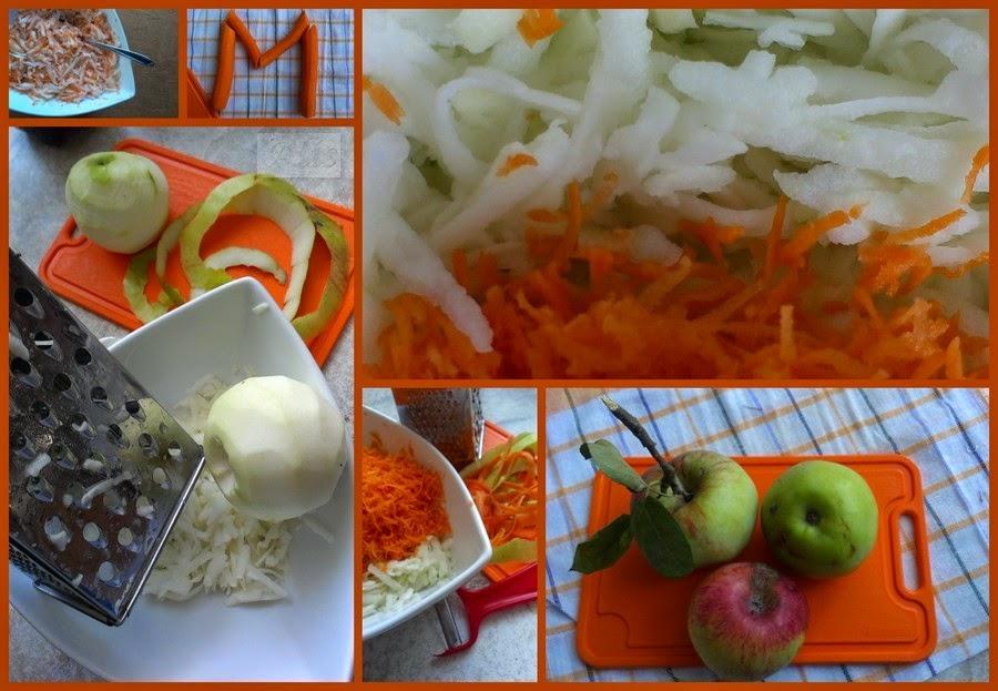 jabłka z marchewką
