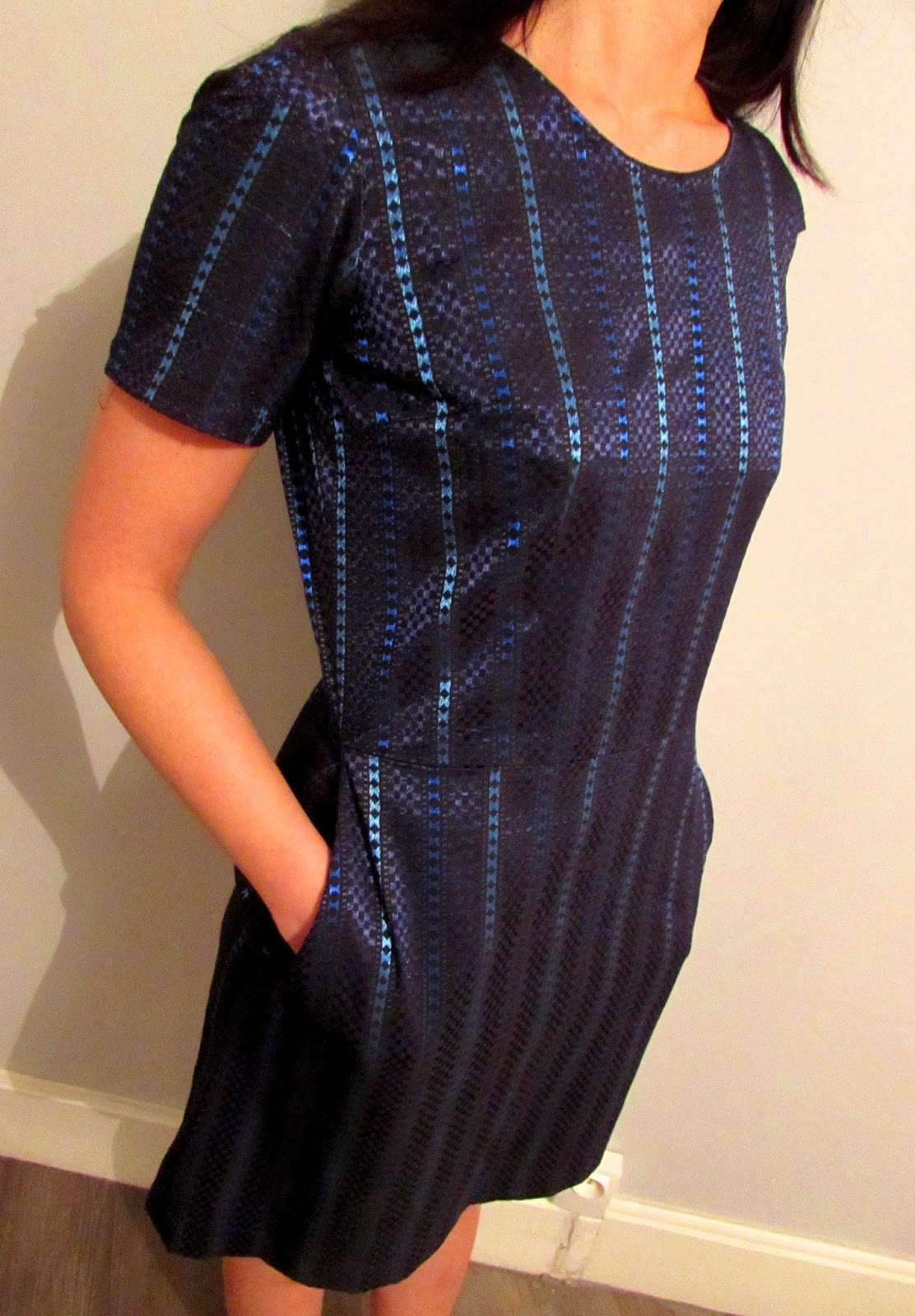 Robe Jacquard blue light