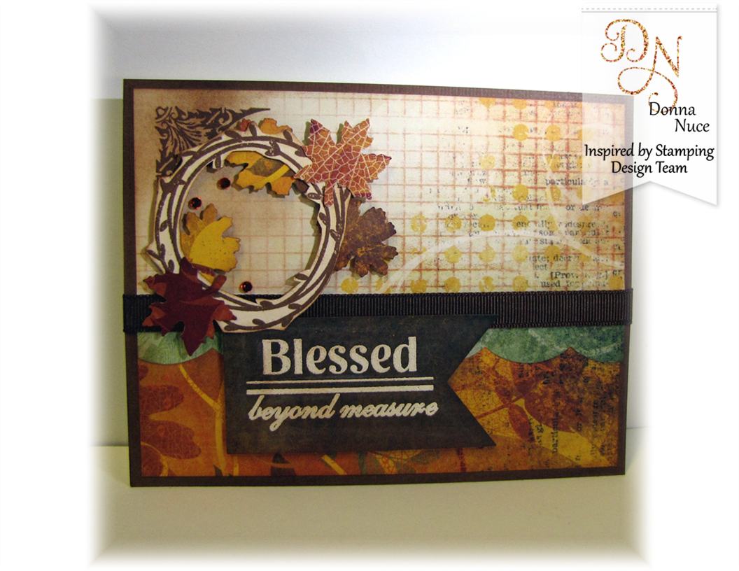 Inspired by Stamping, Crafty Colonel, Autumn Blessing, Thank You Card