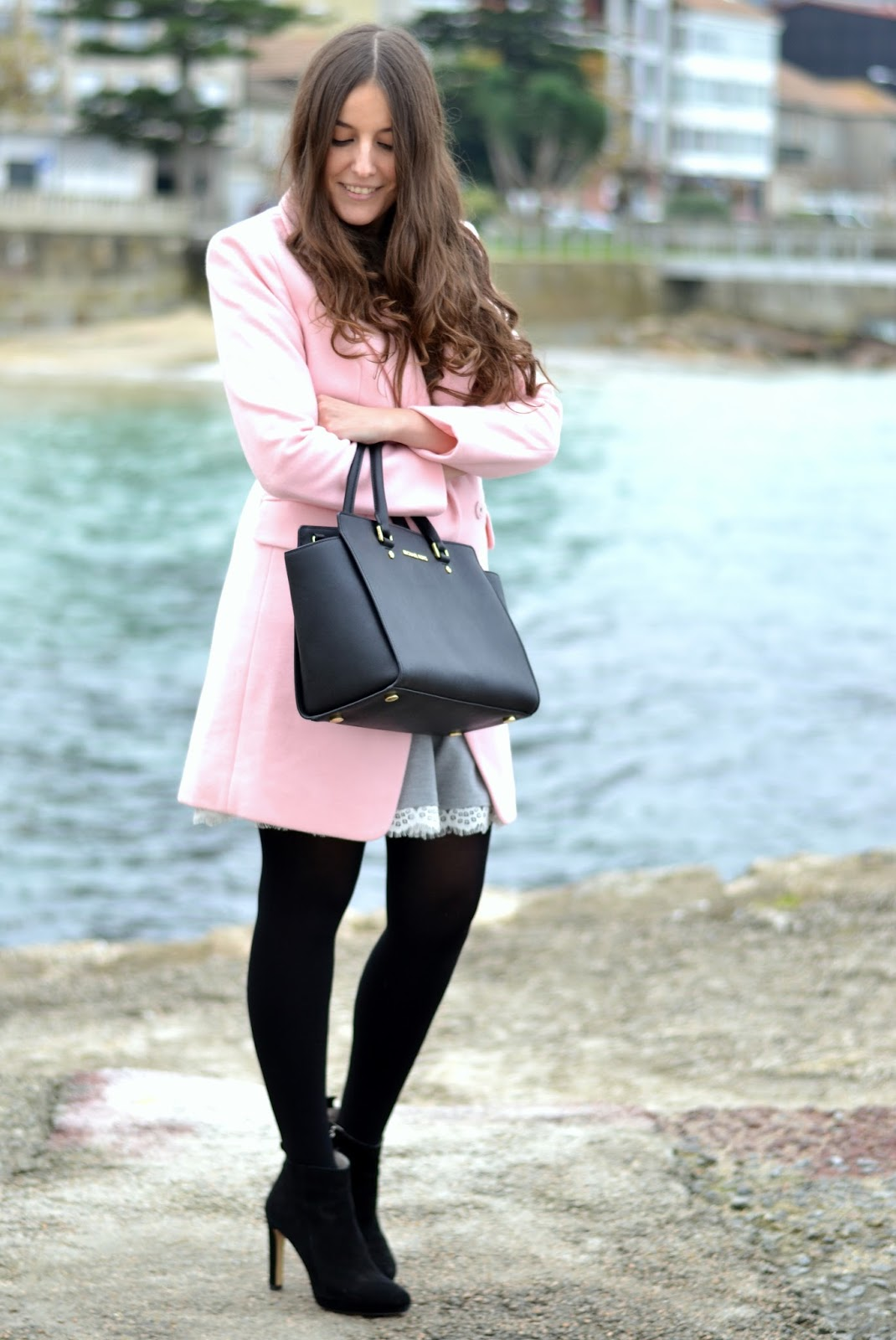 looks pink coat choies