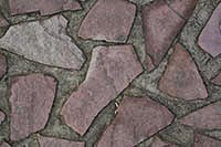 Colored cracked stone tiles