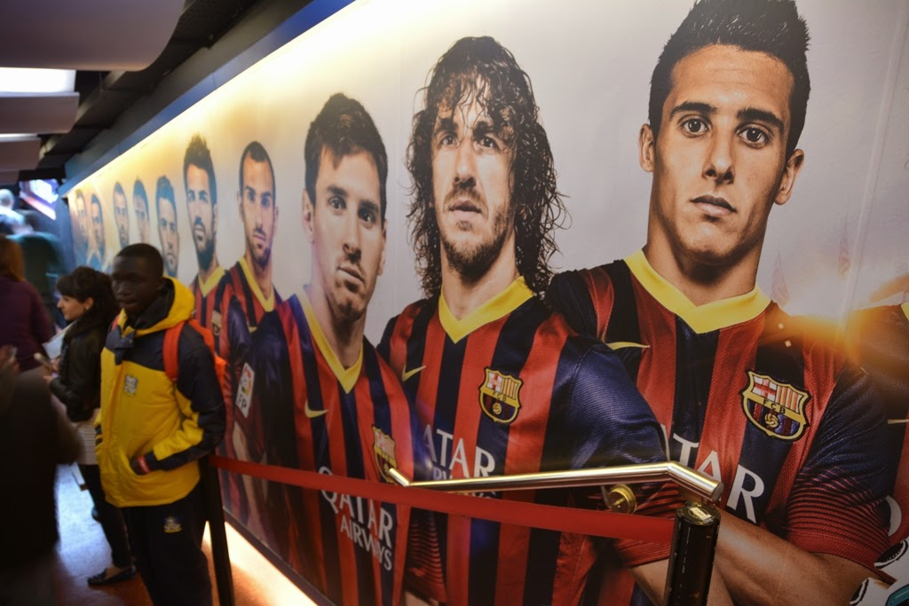 Camp Nou Barcelona Players Tunnel