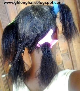 relaxer in hair