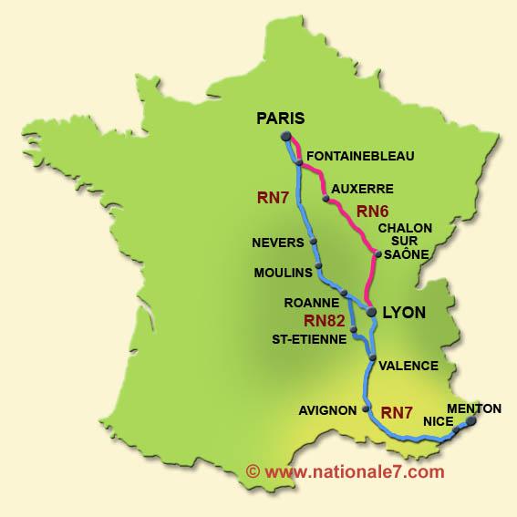 La route nationale 7 2012 for Route nationale 104