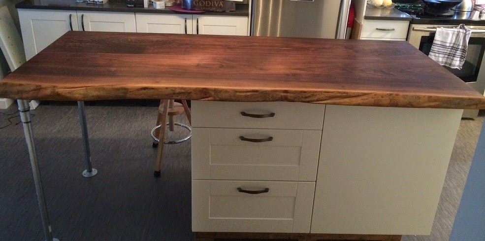 Comptoir de cuisine en bois giroux - Dessus de comptoir en bois ...