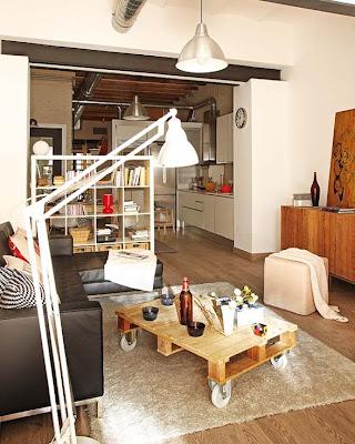 loft pequeño industrial juvenil